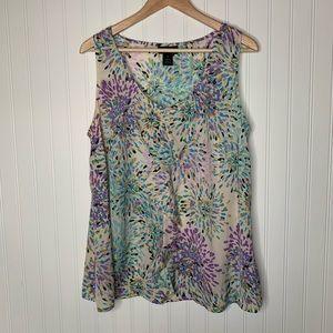 Lane Bryant artsy sleeveless blouse size 18